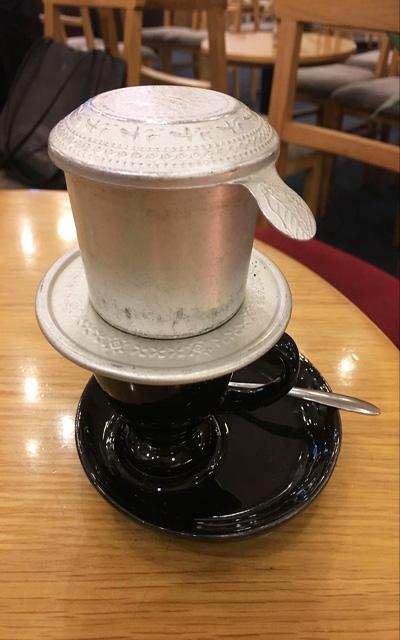 one way valve producing coffee