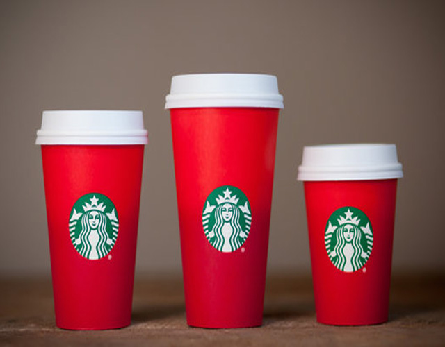 one way valve starbucks christmas cup